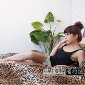 【熱情豹紋/珊絨毯】《3.5尺床包/枕套組》台灣製/日系搖粒絨/珊瑚絨 、快速發熱