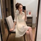 (快速)孕婦洋裝 夏季時尚潮辣媽個性小清新網紅孕婦裝夏裝雪紡裙子