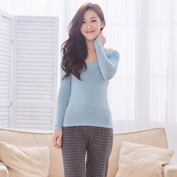 金.安德森咖啡紗無縫貼身輕薄超彈性恆溫保暖衣 FREE (藍綠色)-網