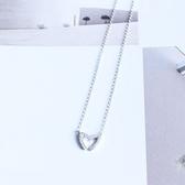 項鍊 925純銀鑲鑽墜飾-簡約百搭生日情人節禮物女飾品73gy41【時尚巴黎】