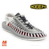 【KEEN】男款 UNEEK 戶外休閒涼鞋-淺灰(1018681)全方位跑步概念館