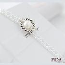 天然淡水珍珠10mm 復古低調華麗風珍珠編織手鍊 凡爾賽圓舞曲 -FiDA