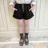 狂歡雙11 女童休閒褲子2018新款春裝女童裝韓版兒童春秋百搭時尚洋氣短褲潮