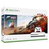 [哈GAME族]免運費 可刷卡●送控制器果凍套●Xbox One S 1TB 極限競速 地平線4 同梱組 白色主機