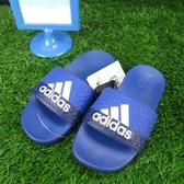 ADIDAS ADILETTE COMFOR 拖鞋 正品 B43529 中大童/女款 藍【iSport愛運動】