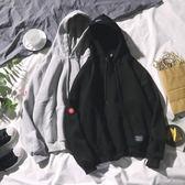 連帽T恤冬季休閒潮流外套韓版寬鬆長袖連帽加絨衛衣男女情侶帽衫 衣間迷你屋
