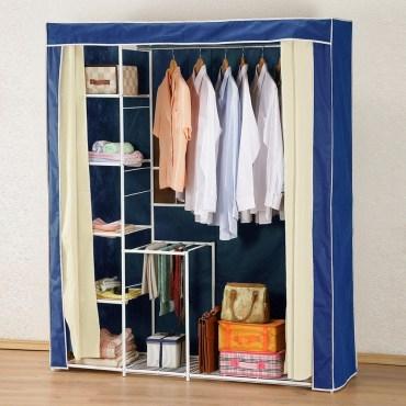 《C&B》新垣日式防塵衣櫥架-寬150CM-咖啡色