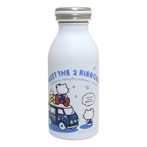 Hello Kitty Action真空保溫保冷瓶350ml(白色) / 水瓶 / 保溫瓶 KF-5235W