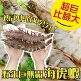 【海肉管家-全省免運】巨無霸野生海虎蝦 size XL(10-12隻入/1Kg±10%)