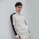 【GIORDANO】男裝G-MOTION品牌LOGO運動外套 - 68 花紗月巖淺花灰