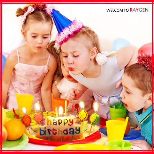 蛋糕蠟燭 HAPPY BIRTHDAY生日蠟燭+氣球燭
