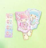 【震撼精品百貨】Little Twin Stars KiKi&LaLa Sanrio 雙星仙子紅包袋-千入羽板#84498