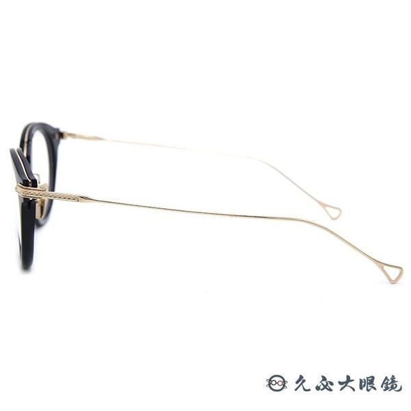 DITA 頂級眼鏡品牌 EDMONT (黑-金) 純鈦 圓框 近視眼鏡 久必大眼鏡