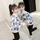 女童上衣 2021春季新款女童時尚衛衣兒童超洋氣夾棉加厚羊羔絨上衣潮【快速出貨八折搶購】