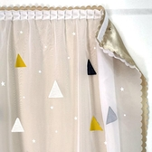 窗簾魔術貼網紅款窗簾免打孔 遮光臥室飄窗簡易黏貼式自黏遮陽紗簾~幸福小屋~