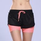 瑜珈褲(短褲)-假兩件防走光吸濕排汗女健身褲5色73ob1【時尚巴黎】