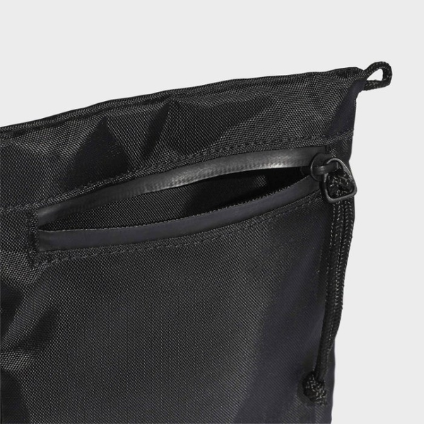 J- adidas ORIGINALS SIMPLE POUCH 側背包 黑色 小包 防水拉鍊 FM1310