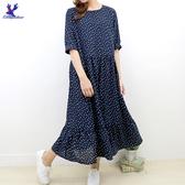 【春夏單一價】American Bluedeer - 豆豆印花長洋裝 二色
