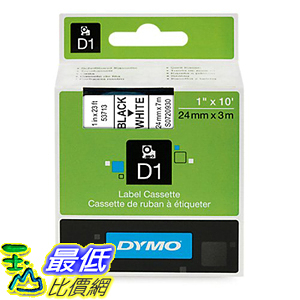 [美國直購] DYMO 53713 Standard D1 Self-Adhesive Polyester Tape for Label Makers 1inch x 23 標籤紙