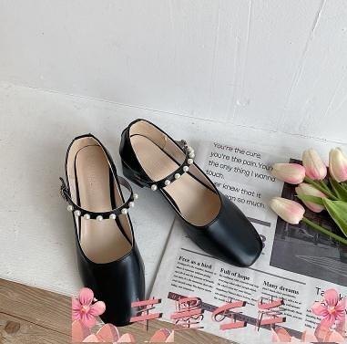 瑪麗珍鞋淑女風晚晚鞋2021年春新款粗跟百搭復古瑪麗珍鞋溫柔仙女風單鞋潮 芊墨左岸