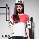 【BTIS】OVER SIZE 短版T-shirt / 梅紅色