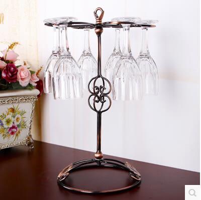 歐式鐵藝紅酒杯架 倒掛酒杯架 創意酒杯架擺件