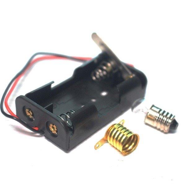 電池座 燈泡 教學實驗用電池座組/一小組入(定20) 使用3號電池 電池盒 科學實驗 自然教學 教具