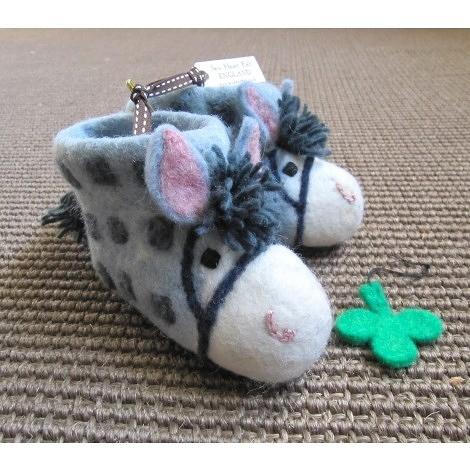 【英國 sew heart felt】放牧小羊羊毛氈鞋 (嬰兒鞋/彌月禮)--農場小馬