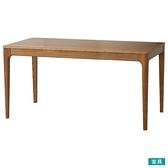 ◎實木餐桌 VIK 165 柚木色 梣木 NITORI宜得利家居