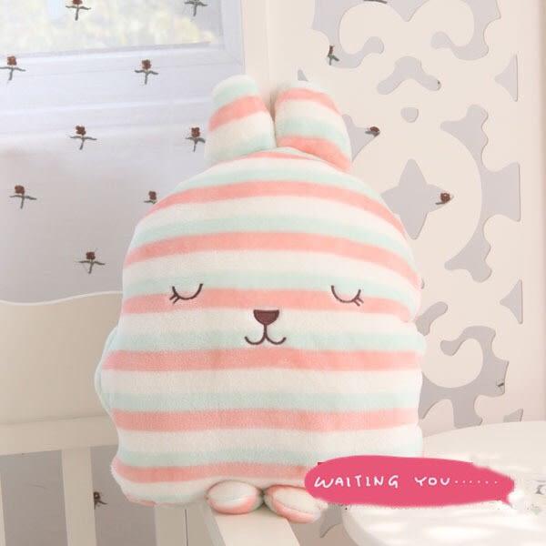 可愛兔子多功能暖手抱枕毯子空調被(現+預)