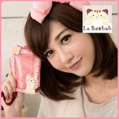 悠遊卡套~Le Baobab日系貓咪包 啵啵貓可愛小碎花零錢證件套/零錢包/拼布包包
