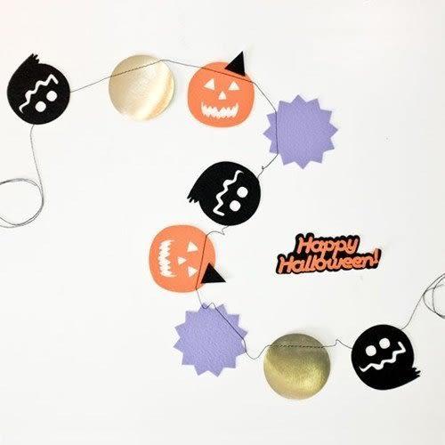 【發現。好貨】萬聖節派對裝飾用品 南瓜幽靈字母旗幟拉花 HAPPY Halloween Garland