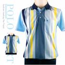 【大盤大】(P55799) 男裝 夏 直條紋POLO衫 台灣製 有領口袋休閒衫 短袖上衣 M-2XL 父親節 有大尺碼