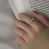 珍珠戒指女ins潮時尚個性冷淡風戒指女小眾設計網紅戒指