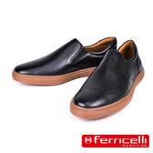 【ferricelli】Outback男仕網球遊艇休閒皮鞋  黑色(F51421-BL)