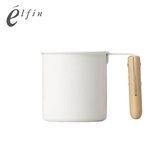【日本高桑elfin】木把白琺瑯馬克杯-250ml