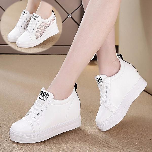 內增高女鞋厚底楔形運動鞋新款韓版小白鞋休閒鞋百搭厚底春鞋 黛尼時尚精品