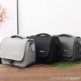 索尼單肩微單單反相機包a6000a6400a7m2a7m3a7r2a9時尚便攜攝影包 LannaS