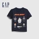 Gap男幼童 Gap x Star Wars星際大戰系列印花短袖T恤 681414-海軍藍