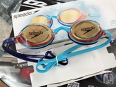 Speedo-成人競技鏡面泳鏡Vengeance Mirror 澄/藍 SD811324C108