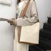 草編包 包包女包新款2021夏日韓潮百搭草編織包休閒側背包女個性大容量包 新品