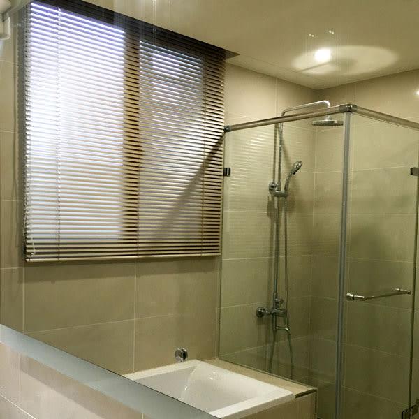 Lansin珠鍊式鋁百葉簾-25mm葉片 寬76~90cm可指定×高106~120cm可指定 上下軌鋁合金/防水浴室廚房窗簾