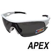 APEX 309偏光眼鏡-白 戶外 慢跑 自行車