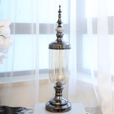 家居客廳裝飾品玻璃花瓶花器擺件【大號】