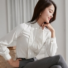清新花邊壓褶小資長袖襯衫[20S298-PF]美之札