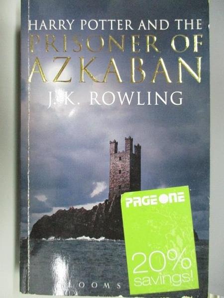 【書寶二手書T2/原文小說_ADP】Harry Potter and the Prisoner of Azkaban