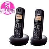 【福利品】Panasonic 國際牌 KX-TGB212TW 炫彩數位雙手機無線電話 黑