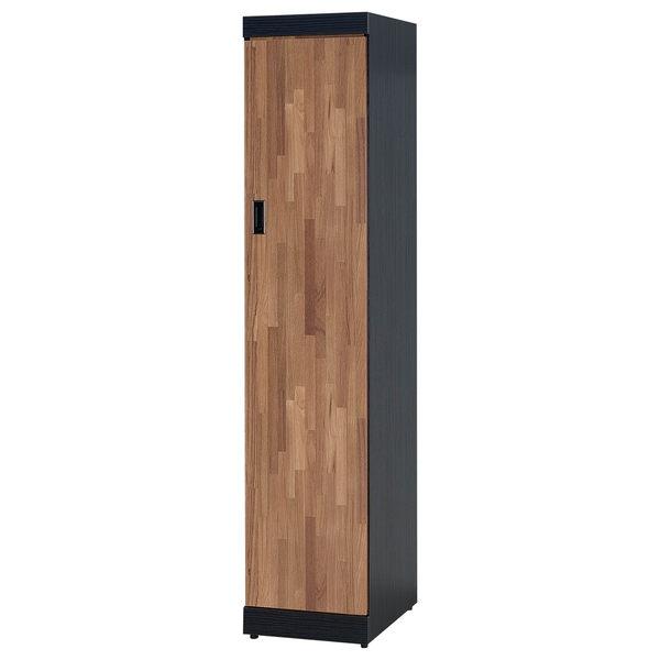【森可家居】雙色積層1.3尺衣櫥 7SB098-3 細長窄型衣櫃 工業風 MIT 台灣製造