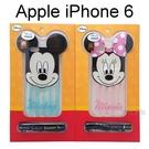 迪士尼大耳系列透明軟殼 iPhone 6 / 6S (4.7吋) 附頸繩 米奇【Disney正版授權】