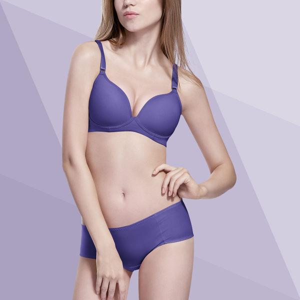Bast 芭絲媞 無鋼圈裸感記憶內衣-高雅紫